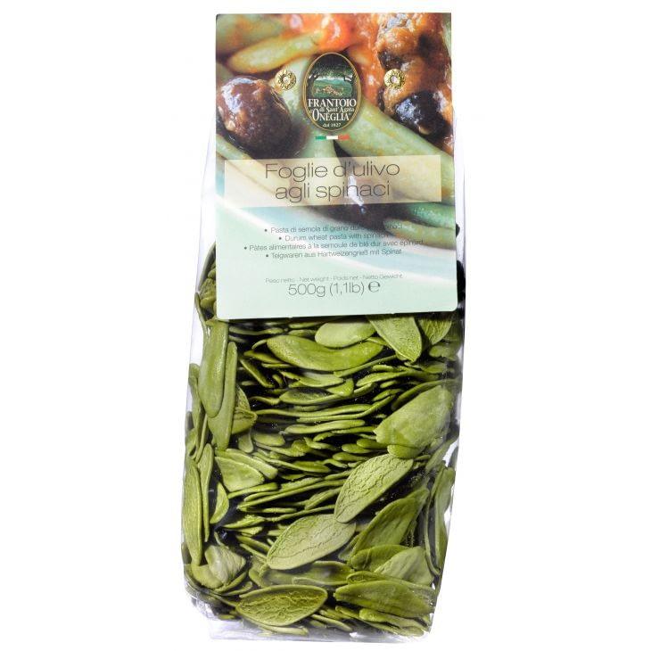 Pâtes feuille d'olivier aux épinards